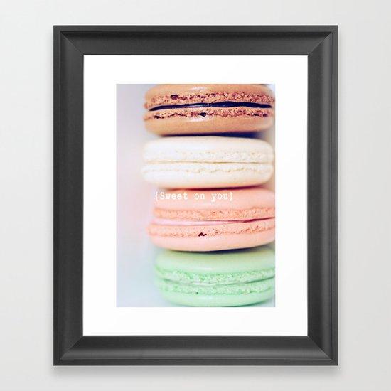 {Sweet on you} Framed Art Print