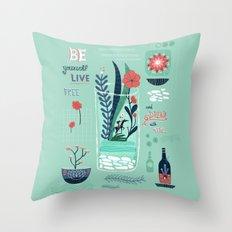 My Blue Dream Throw Pillow