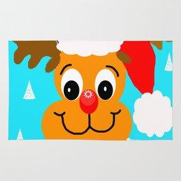 Nadolig llawen reindeer - Merry Christmas wales Rug
