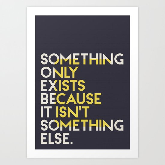 Something. Art Print