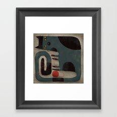 RED YARN Framed Art Print