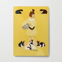 """C Coles Phillips 'Fadeaway Girl' """"A Friend of the Family"""" Metal Print"""