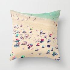 beach summer in love Throw Pillow