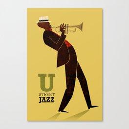 U Street Jazz (Trumpet) Canvas Print