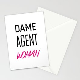 Dame, Agent, Woman. Stationery Cards