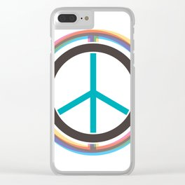 Finding The Peace From Our Heart Clear iPhone Case