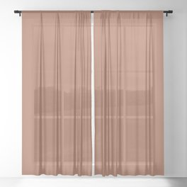 Sherwin Williams Color of the Year 2019 Cavern Clay SW 7701 Solid Color Sheer Curtain