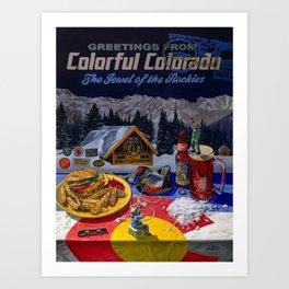 Colorful Colorado Art Print