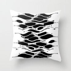 waves 06 Throw Pillow