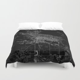 tucson map Duvet Cover