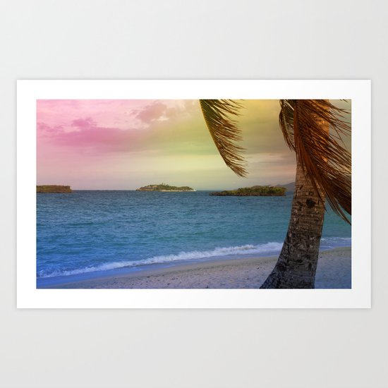 tropical sumer Art Print