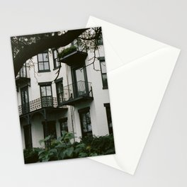 White Brooklyn Building Stationery Cards