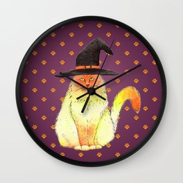 Halloween Cat Wall Clock