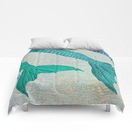 Glistening Mermaid Tails Comforters