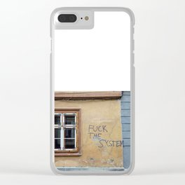 F THE SYSTEM Clear iPhone Case