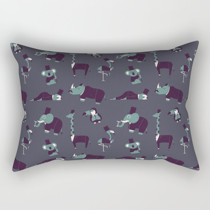 Party Animals Rectangular Pillow