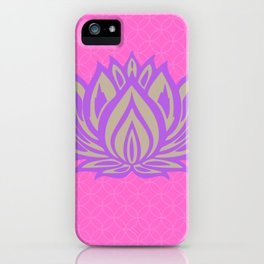 Lotus Meditation Pink Throw Pillow iPhone Case