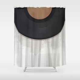 Vinyl reccord design Shower Curtain