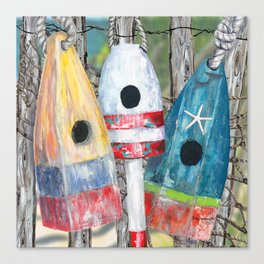 Buoy Birdhouse Canvas Print
