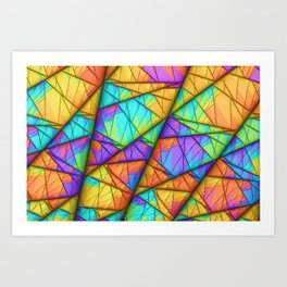 Colorful Slices Art Print