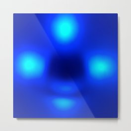 Blue Aliens Metal Print