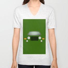 green jeep Unisex V-Neck