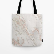Marble Rose Gold Blush Pink Metallic by Nature Magick Tote Bag