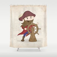 nautical Shower Curtains featuring Nautical by Kyle Anderson