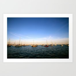 Lake Michigan Sailboats Art Print
