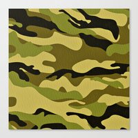 army Canvas Prints featuring ARMY by Sophie