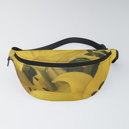 Bright Yellow Lilies From A Tropical Garden Fanny Pack