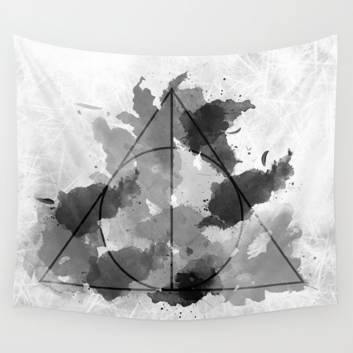 The Gifts Black and White Version Wall Tapestry