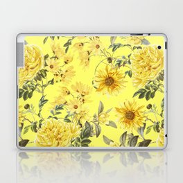 Vintage & Shabby Chic - Yellow Summer Flowers Laptop & iPad Skin