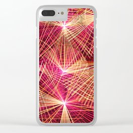 Raspberry Supernovae Clear iPhone Case