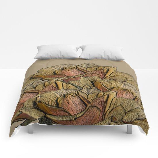 Elegant Copper and Bronze Roses Comforters