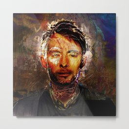 The Portrait Eraser (Thom Yorke) Metal Print