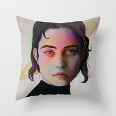 Space Girl Throw Pillow