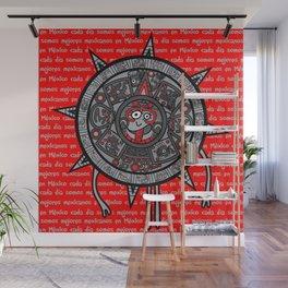Mexicanitos al grito - Calendarito Azteca Wall Mural