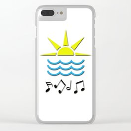 Sun, Sea and Music Clear iPhone Case