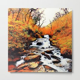 Tree Ent's Waterfall Metal Print