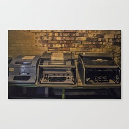Vintage Typewriters Canvas Print