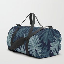 Philo Hope - Tropical Jungle Leaves Pattern #5 #tropical #decor #art #society6 Duffle Bag