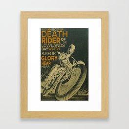 Death Rider Framed Art Print