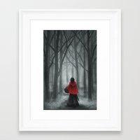 red hood Framed Art Prints featuring Red Hood by Svenja Gosen