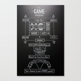 Whole Life Challenge - The Game Canvas Print