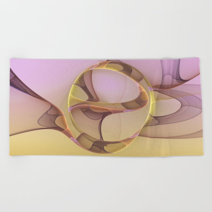 Abstract Motions, Modern Fractal Art Beach Towel