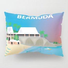 Bermuda - Skyline Illustration by Loose Petals Pillow Sham