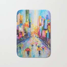 RAINING IN THE CITY Bath Mat