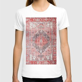 Vintage Anthropologie Farmhouse Traditional Boho Moroccan Style Texture T-shirt
