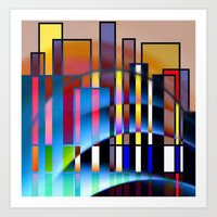 seattle Art Prints featuring Seattle by Kristine Rae Hanning